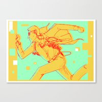 runner Canvas Prints featuring Runner by gallerydod