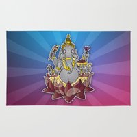 ganesh Area & Throw Rugs featuring Ganesh by Street But Elegant