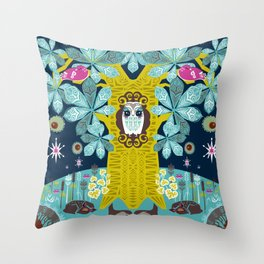 The Horse Chestnut {Night} Throw Pillow