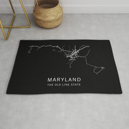 Maryland State Road Map Rug