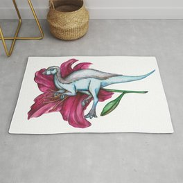 L is for Leaellynasaura and Lilly Rug
