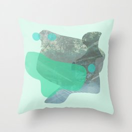 Green Garden Throw Pillow