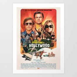 Once Upon a Time in Hollywood Art Print