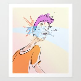 Reality Punch Art Print