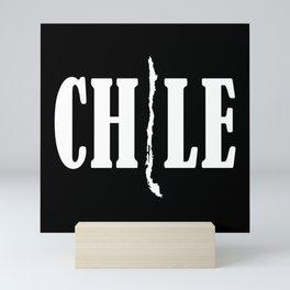 Chile map Mini Art Print