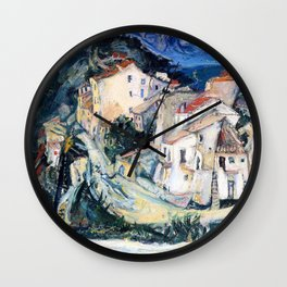 Chaim Soutine - View of Cagnes - Digital Remastered Edition Wall Clock