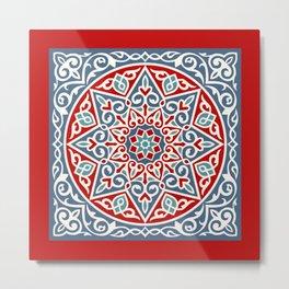 Aleph one red Metal Print