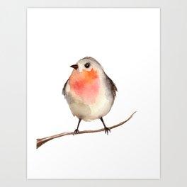 bird bullfinch Art Print