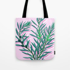 Olive branches in pink and green Tote Bag