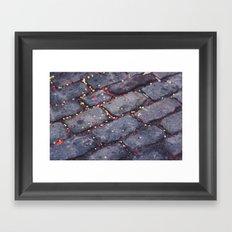 Rocks, stars, hearts Framed Art Print