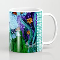 little mermaid Mugs featuring Little Mermaid. by Sylvie Heasman