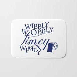 Wibbly Wobbly Timey Wimey Bath Mat