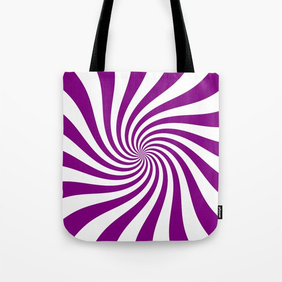 Swirl (Purple/White) Tote Bag