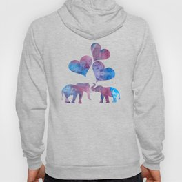 Elephants art Hoody