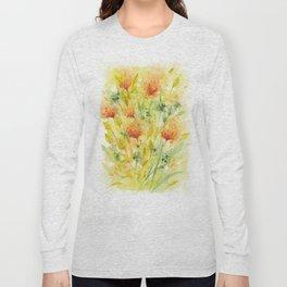 Fiery Flower Field Long Sleeve T-shirt