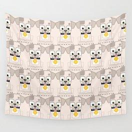 Super cute animals - Cute White Cream Puppy Dog Wall Tapestry