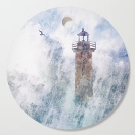 Storm in the lighthouse Cutting Board