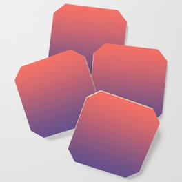 Living Coral Ultra Violet Gradient Pattern Coaster
