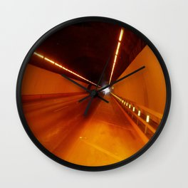 The light at the end of the tunnel Wall Clock