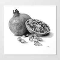 pomegranate Canvas Prints featuring Pomegranate by Darkensian