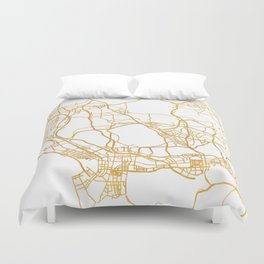 SHENZHEN CHINA CITY STREET MAP ART Duvet Cover