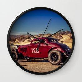 Hot Rod Roadster Wall Clock