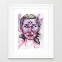 miley Framed Art Prints featuring Miley by Vvaanniiee
