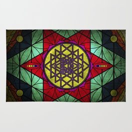 Sacred Geometry for your daily life- SRI YANTRA Rug