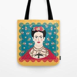 Frida Viva Cushion Yellow Tote Bag