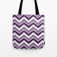 Ikat Chevron: Purple Tonal  Tote Bag