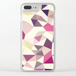 Rose Garden Tris Clear iPhone Case