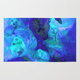 Violet Blue - Abstract Art By Sharon Cummings Rug