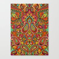 paisley Canvas Prints featuring Paisley by Aimee St Hill
