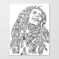 marley Canvas Prints featuring Marley by Ron Goswami