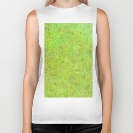 Color gradient and texture 27 yellow and green Biker Tank
