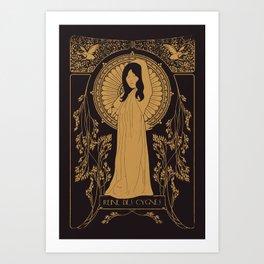 Reine des Cygnes (Gold) Art Print