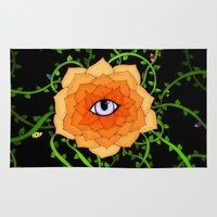 chakra Area & Throw Rugs featuring Sacral Chakra by DuckyB