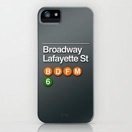subway broadway sign iPhone Case