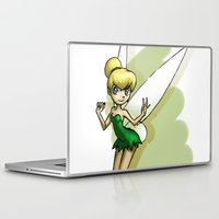 tinker bell Laptop & iPad Skins featuring Tinker by Sabina  Daldovo