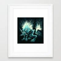 werewolf Framed Art Prints featuring Werewolf. by Danilo Sanino