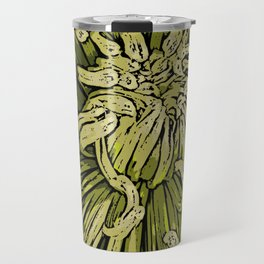 Spider Chrysanthemum Woodcut Travel Mug