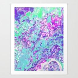 Fluid Acid Pool Marble Art Print
