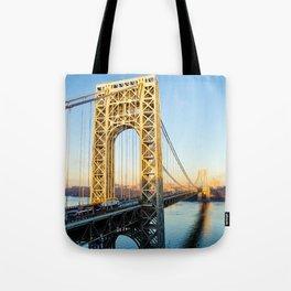 George Washington Bridge Sunset Tote Bag