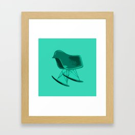 Rocker Chair Blue Framed Art Print