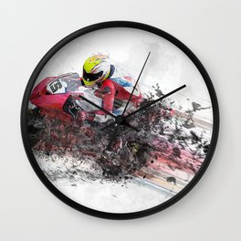 High Speed Motorcycle Racer Wall Clock