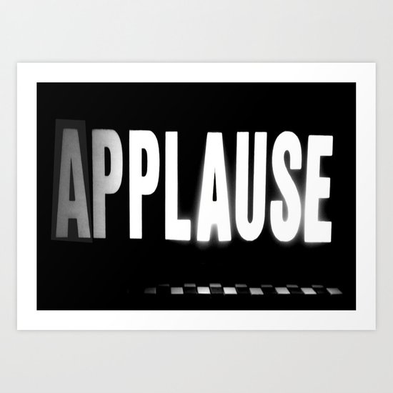 Applause Art Print