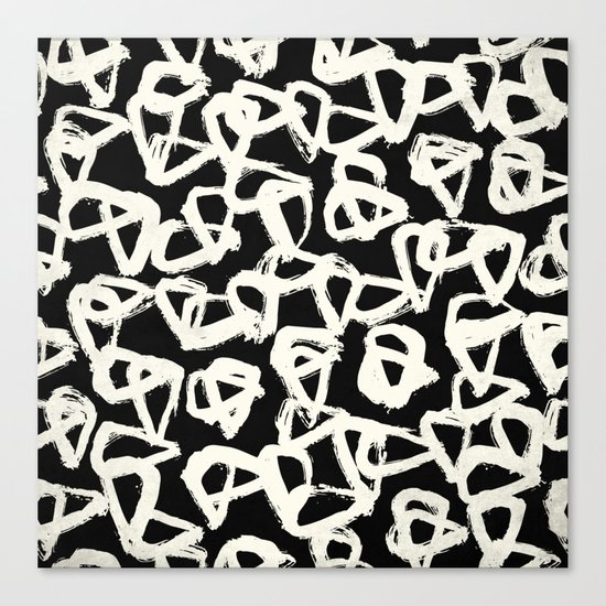 Tribal Triangle Dots Canvas Print