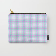 Gingham purple and teal Carry-All Pouch