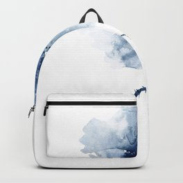 Blue Watercolor Poppies #2 Backpack