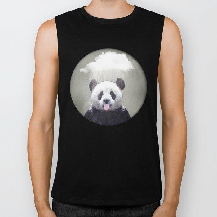 Panda Rain Biker Tank
